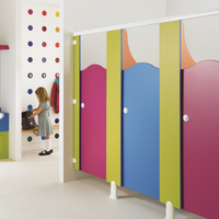Solid Phenolic HPL Toilet Partitions For School