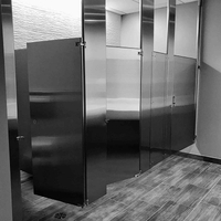 Brikley Compact Laminate Toilet Partitions For Shopping Mall